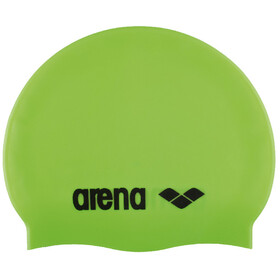 arena Classic Silicone Swimming Cap Juniors acid lime-black